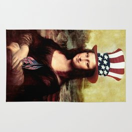 Patriotic Mona Lisa Rug