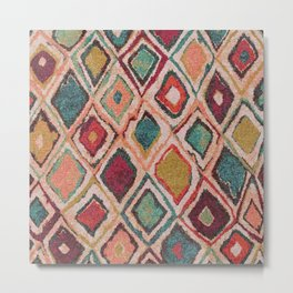 V38 EPIC ANTHROPOLOGIE MOROCCAN CARPET TEXTURE Metal Print