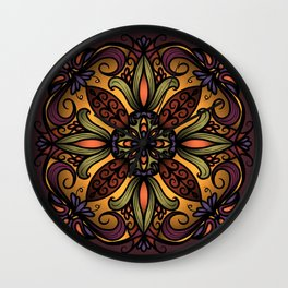 Autumn Ornament Wall Clock