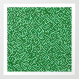 Complexity in green Art Print