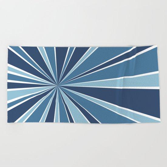 Star Burst Blues Beach Towel