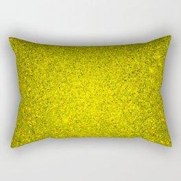 Beryl Yellow Sparkling Jewels Pattern Rectangular Pillow