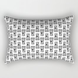 Foundation Tubes Pattern Rectangular Pillow