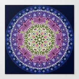 Colourful Dragonfly Mandala Canvas Print