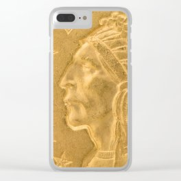 US Indian Head Dollar Clear iPhone Case