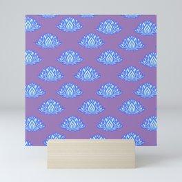 Lotus Pattern Violet/Lila Mini Art Print
