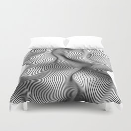 Life is not a straight line Duvet Cover