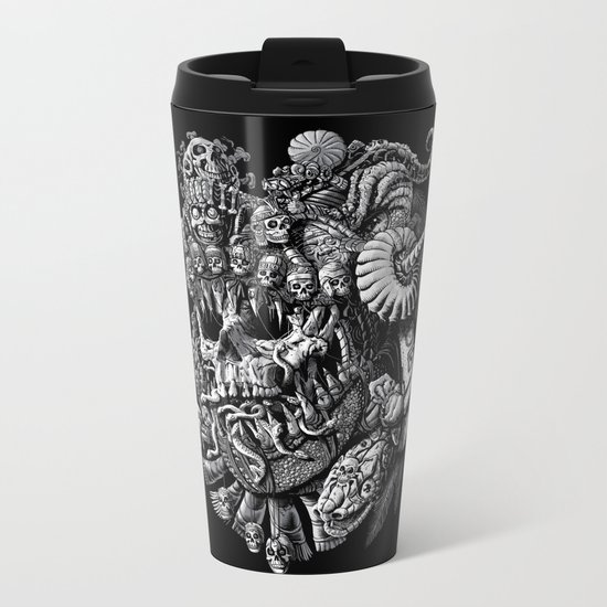 Mictlantecuhtli Metal Travel Mug