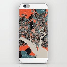 Southampton Multicoloured Print iPhone Skin
