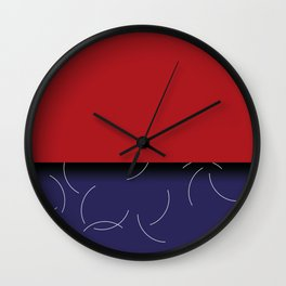 Red and purple pattern Wall Clock