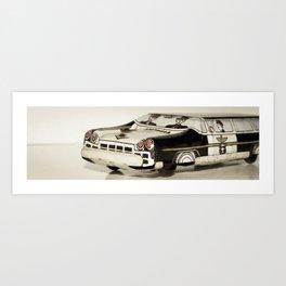Police car Tin Toy Art Print