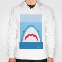 jaws Hoodies featuring Jaws by Daniel Anastasio