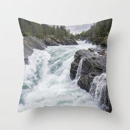 Raging River Throw Pillow