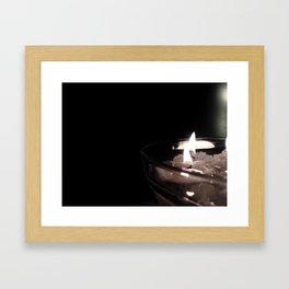 Burning candels Framed Art Print