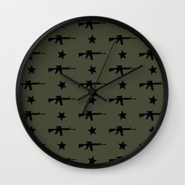 M4 Assault Rifle Pattern Wall Clock