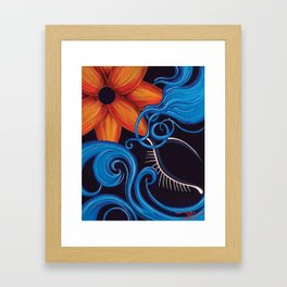 Sensual Blue Framed Art Print