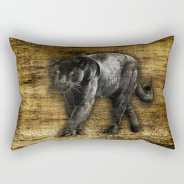 Wild Black Jaguar Rectangular Pillow