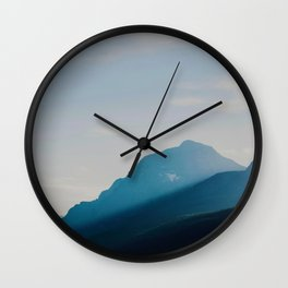 The Mountains int he Fog (Color) Wall Clock