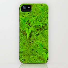 ABSTRACTED  GREEN  TROPICAL FERNS GARDEN ART iPhone Case