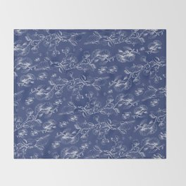 deep blue pohutukawa flower Throw Blanket