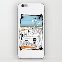 fear and loathing iPhone & iPod Skins featuring Fear and Loathing in Albuquerque II by Evan