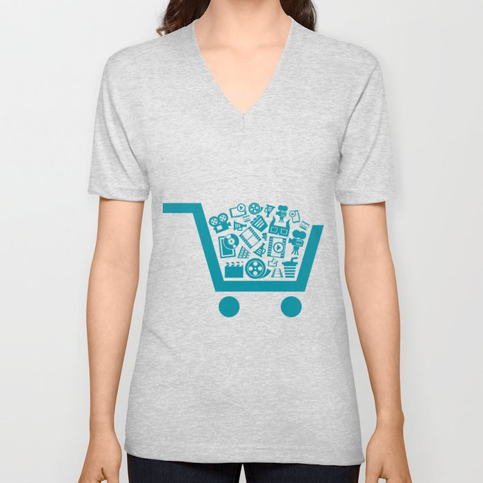 Cinema a cart Unisex V-Neck