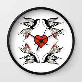 Blue bird Love Wall Clock