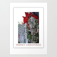 Christmas Wrapping Art Print
