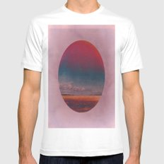 Coloring the Colour in the Sea MEDIUM Mens Fitted Tee White