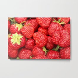 Ripe Red Strawberries Metal Print