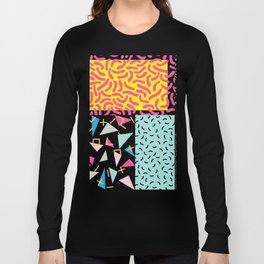 90's Pattern Funky Colors Long Sleeve T-shirt