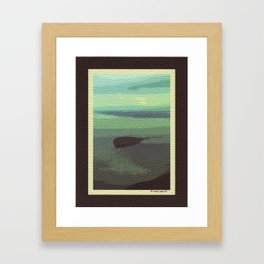 Mt. Baker and Protection Island Framed Art Print