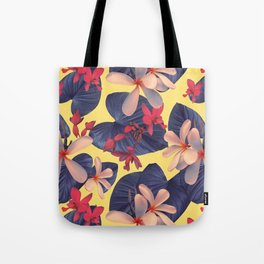 Mixed Tropical Floral Tote Bag