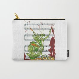 Making Wishes  (praying mantis and dandelion on sheet music) Carry-All Pouch