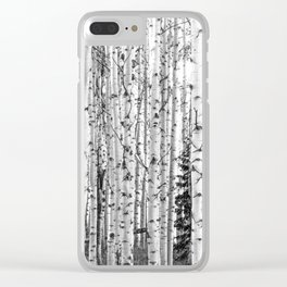 Forest in Black & White Clear iPhone Case
