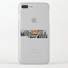 Roswell New Mexico Big Letter Travel Souvenir Clear iPhone Case
