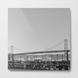 Gray Bay Bridge Metal Print