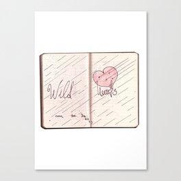 wild hearts can be broken Canvas Print