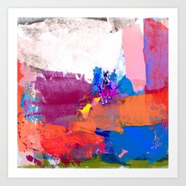 polo abstract red blue Art Print