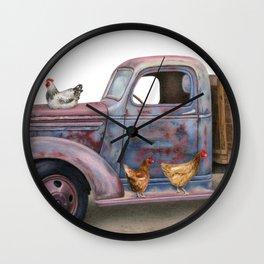 The Flock Spot Wall Clock