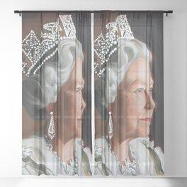 QUEEN ELIZABETH II  Sheer Curtain