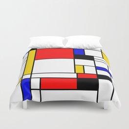 Bauhouse Composition Mondrian Style Duvet Cover