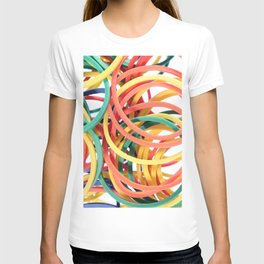 Many Colored Scattered Stationery Rubbers T-shirt