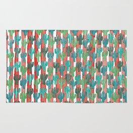 Saguaro Cactus Pattern Rug