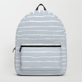 Grey and White Winter Stripes Backpack