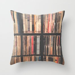 Record Collection Throw Pillow