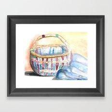 Color-Weaved Basket Framed Art Print