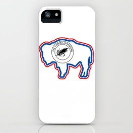 Wyoming Fly Fishing Hook Flag Bison iPhone Case