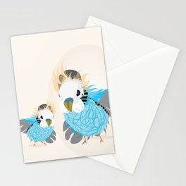 parrots waving hi Stationery Cards