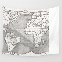 Vintage Map of The World (1665) Wall Tapestry